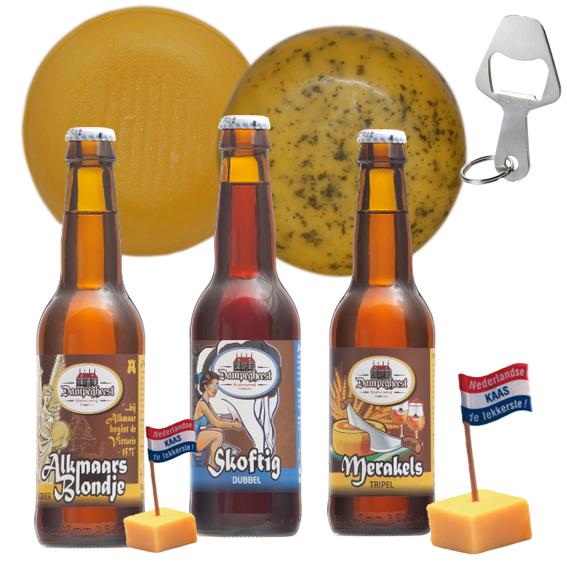 Kaas en bier cadeaupakket