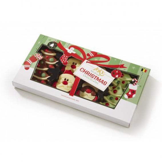 Kerstchocolade in feestelijk cadeaudoosje